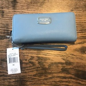 NWT Michael Kors Powder Blue Wristlet